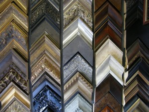Corner samples of available frames at Bradley's.